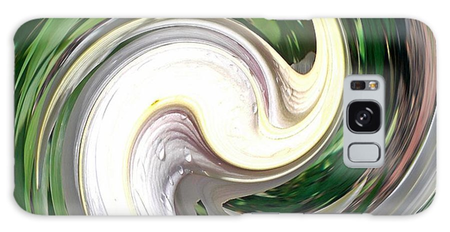 Lilium Candidum Galaxy S8 Case featuring the photograph Madonna Lily Swirls by Sholeh Mesbah