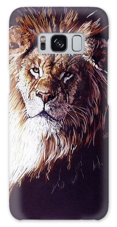 Lion Galaxy Case featuring the drawing Maestro by Barbara Keith
