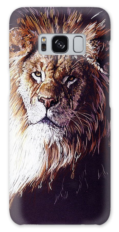 Lion Galaxy S8 Case featuring the drawing Maestro by Barbara Keith