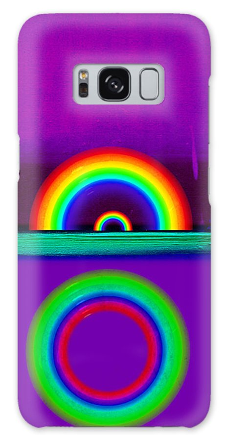 Rainbow Galaxy S8 Case featuring the painting Magenta Sunset by Charles Stuart