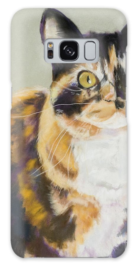 Calico Galaxy S8 Case featuring the painting Maggie Mae by Pat Saunders-White