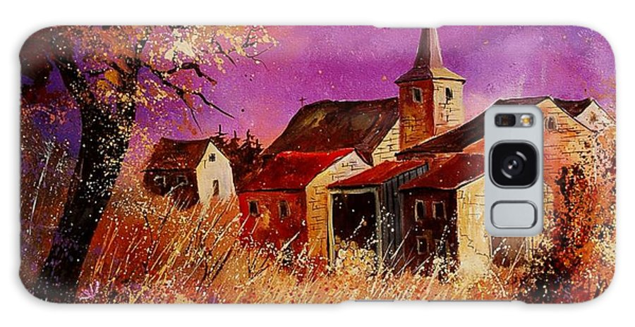 Landscape Galaxy Case featuring the painting Magic Autumn by Pol Ledent