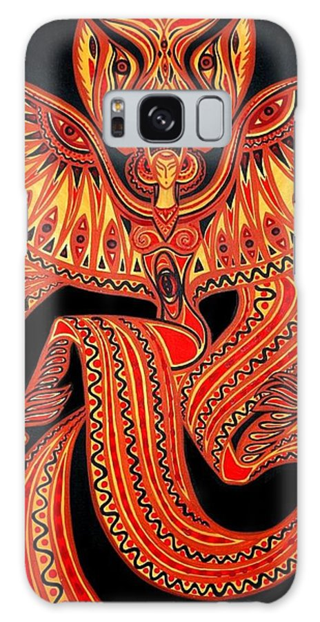 Inga Vereshchagina Galaxy S8 Case featuring the painting Magic Dance by Inga Vereshchagina
