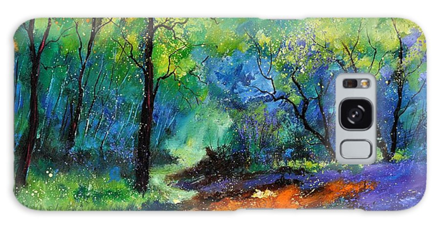 Landscape Galaxy S8 Case featuring the painting Magic Forest 79 by Pol Ledent