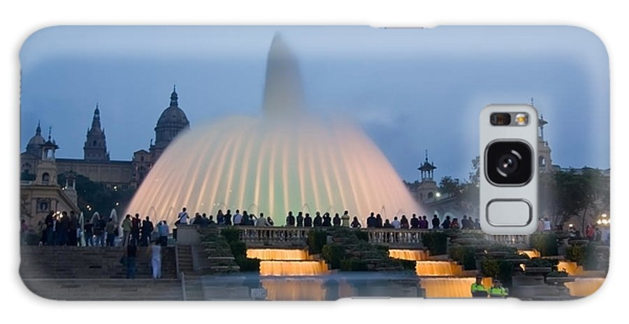 Barcelona Galaxy Case featuring the photograph Magic Fountain In Barcelona by Sven Brogren