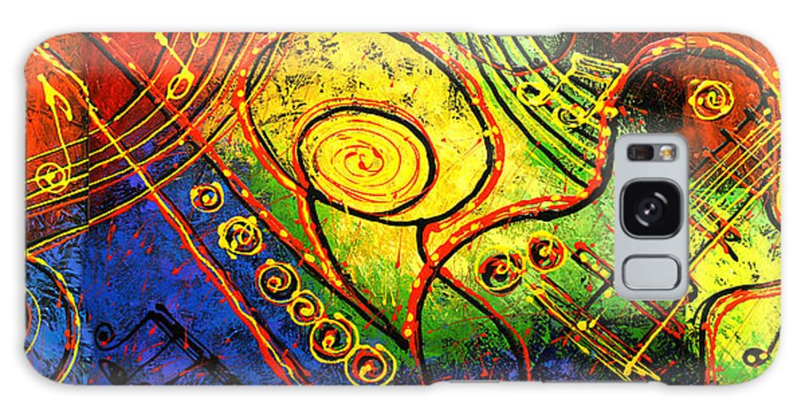 West Coast Jazz Galaxy S8 Case featuring the painting Magic Guitar by Leon Zernitsky