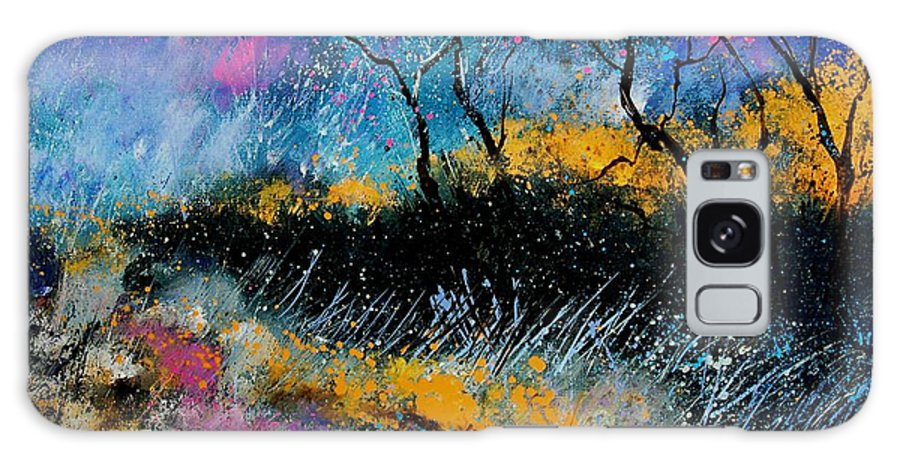 Landscape Galaxy Case featuring the painting Magic Morning Light by Pol Ledent