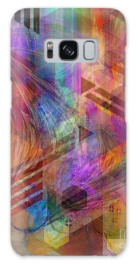 Magnetic Abstraction Galaxy Case featuring the digital art Magnetic Abstraction by John Beck