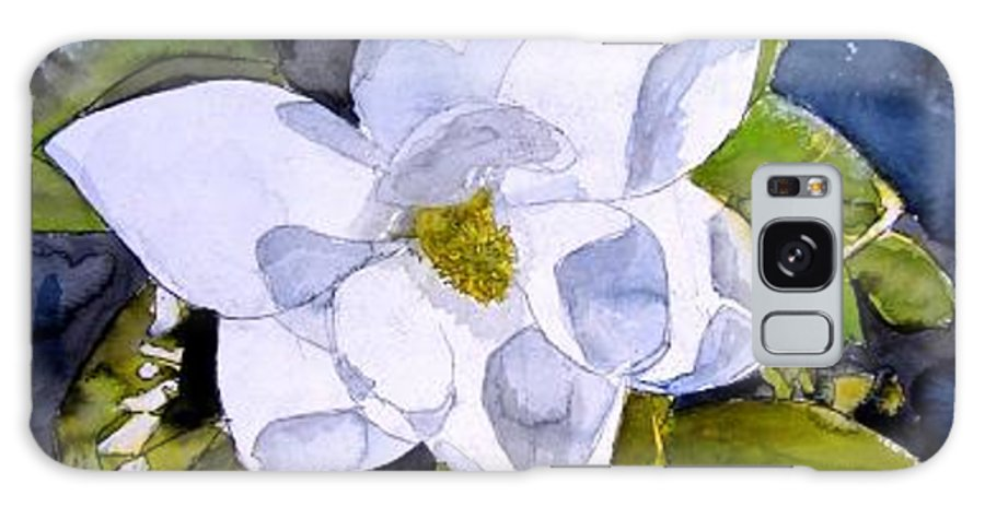 Magnolia Galaxy S8 Case featuring the painting Magnolia 2 Flower Art by Derek Mccrea