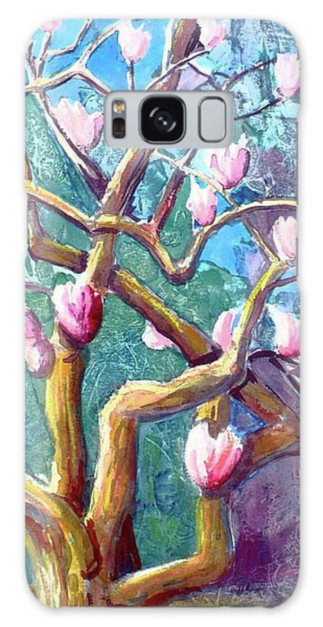 Magnolia Galaxy S8 Case featuring the painting Magnolia by Saga Sabin