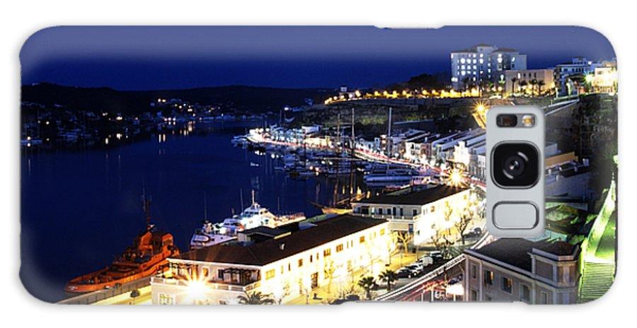 Mediterranean Galaxy S8 Case featuring the photograph Mahon Harbour At Night by Pedro Cardona Llambias