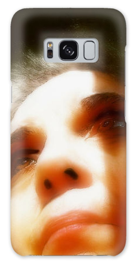 Portrait Galaxy S8 Case featuring the painting Maid Of Constant Sorrow  Self-portrait by RC DeWinter