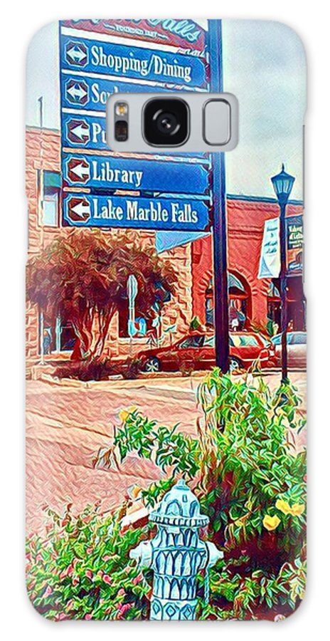 Marble Falls Galaxy S8 Case featuring the digital art Main Street by Wendy Biro-Pollard