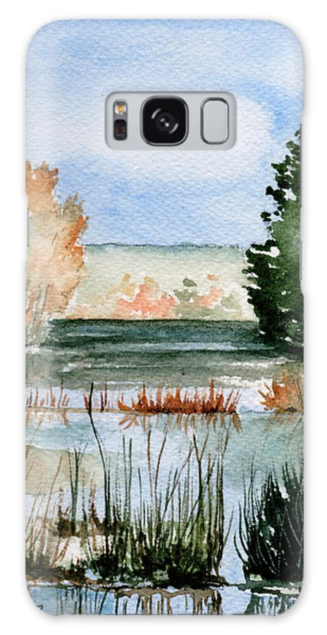 Watercolor Galaxy S8 Case featuring the painting Maine Fall Reflections by Brenda Owen