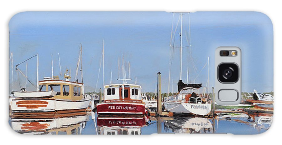Maine Galaxy S8 Case featuring the painting Maine Marina Evening by Craig Morris