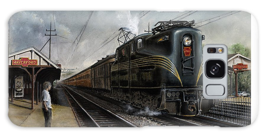 Trains Galaxy S8 Case featuring the painting Mainline Memories by David Mittner