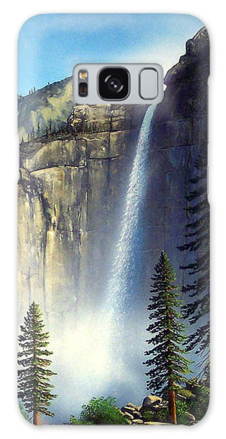 Landscape Galaxy S8 Case featuring the painting Majestic Falls by Frank Wilson