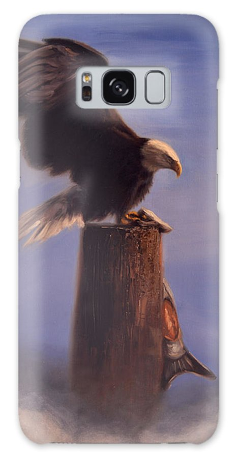 Oil Galaxy Case featuring the painting Majestic by Greg Neal