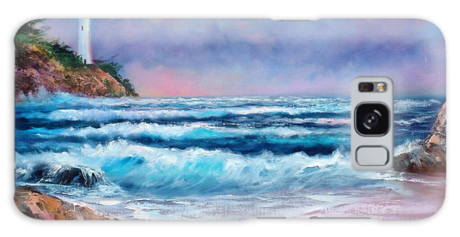 Ocean Galaxy S8 Case featuring the painting Majestic Point by Sally Seago