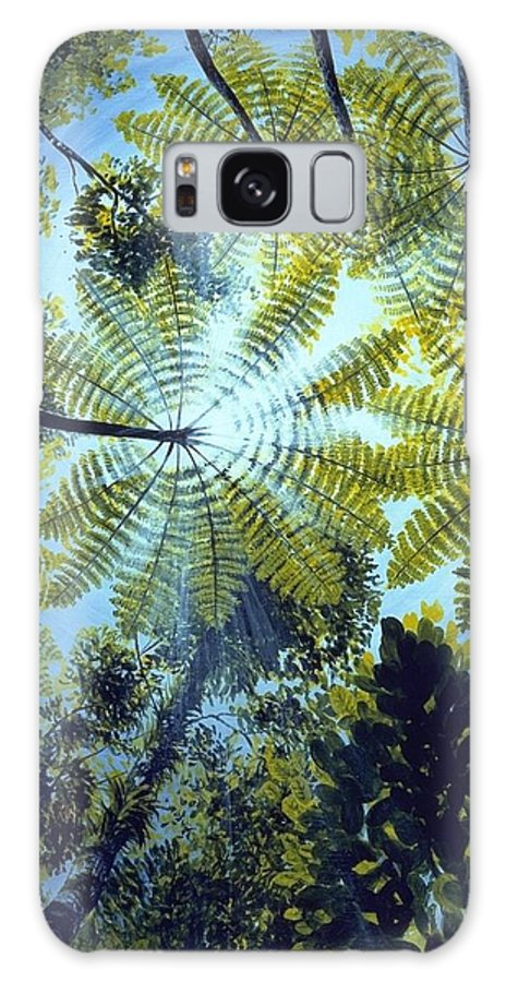 Chris Cox Galaxy S8 Case featuring the painting Majestic Treeferns by Christopher Cox
