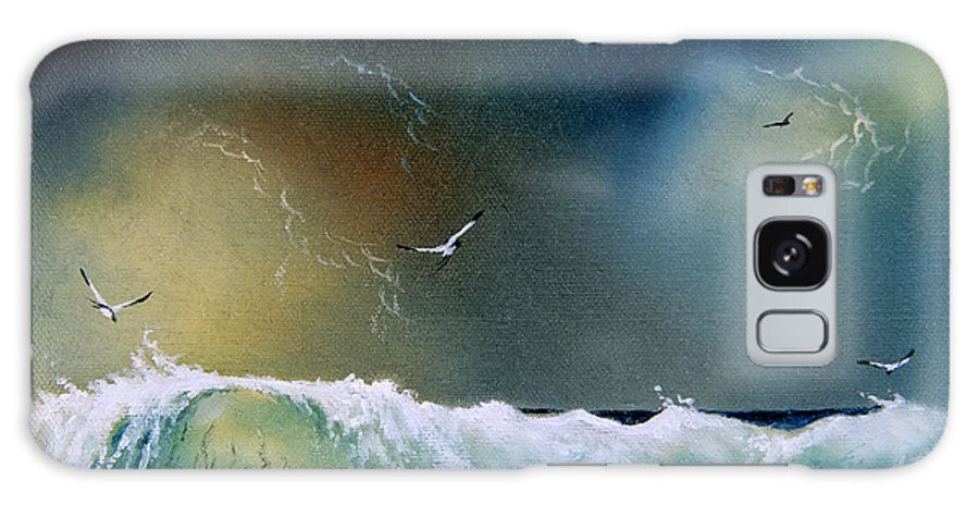 Water Galaxy S8 Case featuring the painting Majestic Wave by Don Griffiths