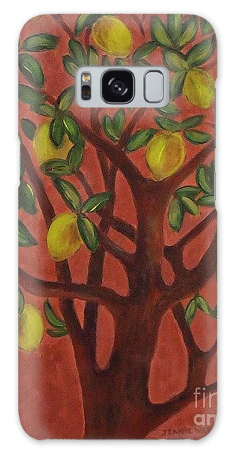 Lemon Galaxy Case featuring the painting Make Lemon Aid by Jeanie Watson