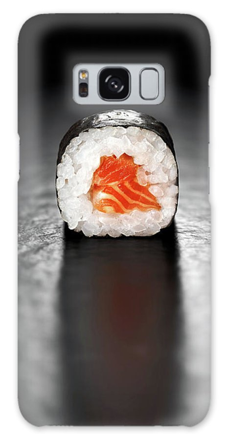 Sushi Galaxy S8 Case featuring the photograph Maki Sushi Roll With Salmon by Johan Swanepoel