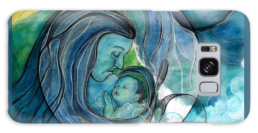 Mom Galaxy S8 Case featuring the painting Makuahine by Kimberly Kirk