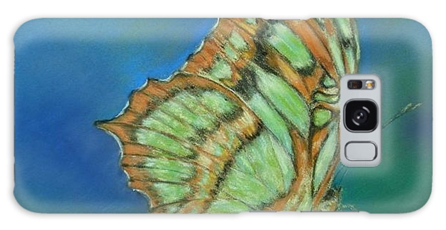 Butterfly Galaxy S8 Case featuring the painting Malachite by Ceci Watson