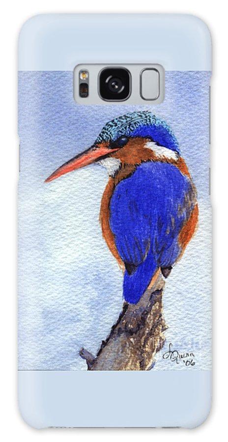 Bird Galaxy S8 Case featuring the painting Malachite Kingfisher by Lynn Quinn