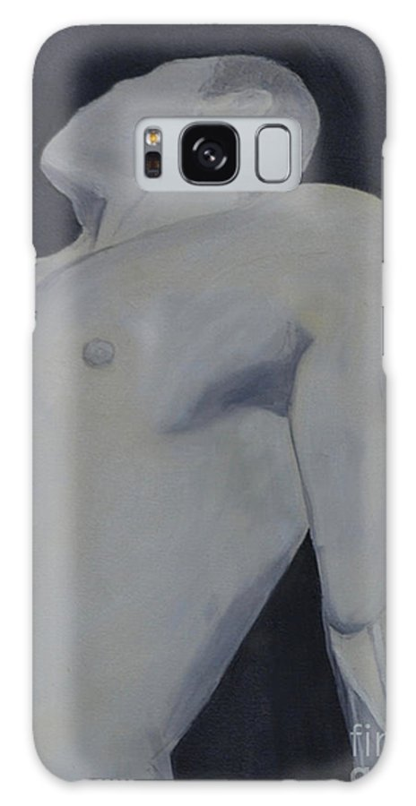 Nude Galaxy S8 Case featuring the painting Male Black And White by Lori Jacobus-Crawford