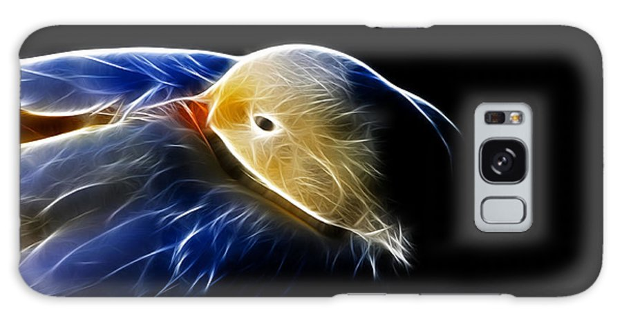 Bird Galaxy S8 Case featuring the photograph Mallard Duck Fractal by Lawrence Christopher