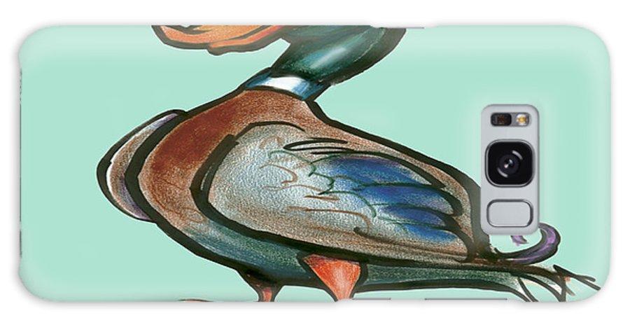 Duck Galaxy S8 Case featuring the digital art Mallard Duck by Kevin Middleton