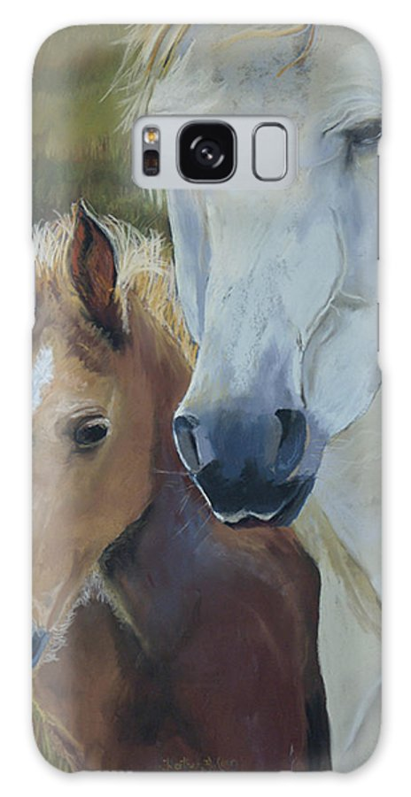 Horses Galaxy S8 Case featuring the painting Mama's Boy by Heather Coen
