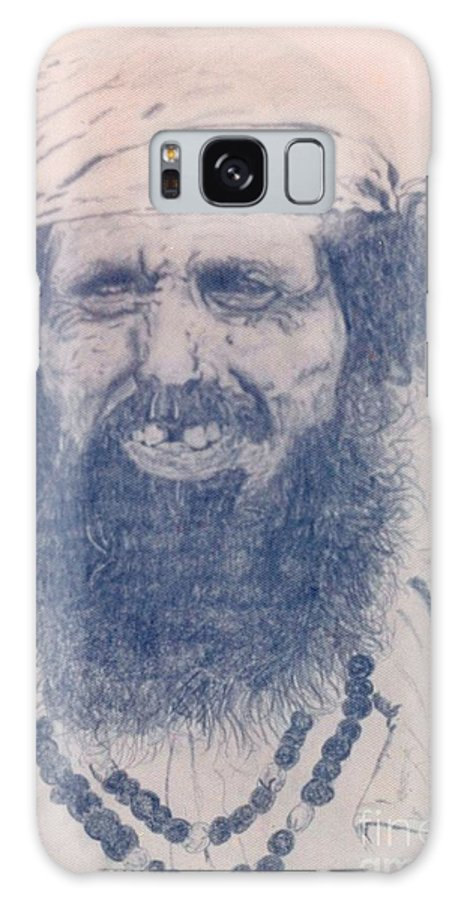 Pencil Portrait Galaxy S8 Case featuring the drawing Man From Madigascar by Ron Bissett