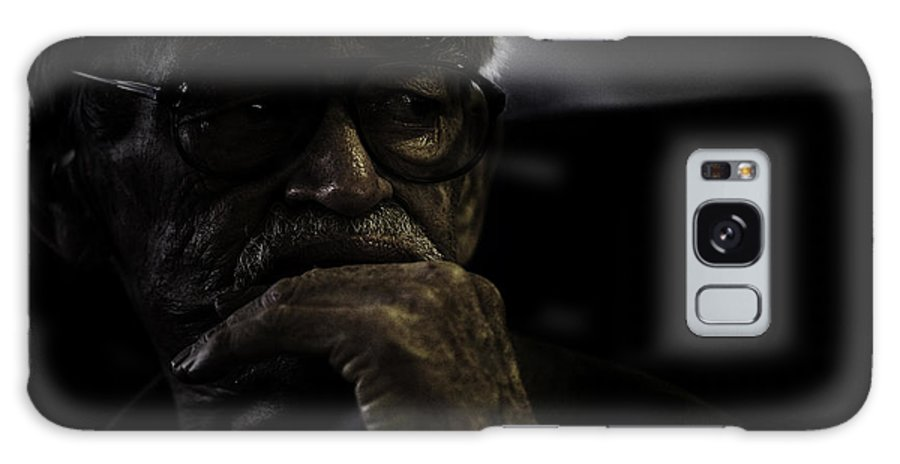 Portrait Galaxy Case featuring the photograph Man On Ferry by Sheila Smart Fine Art Photography