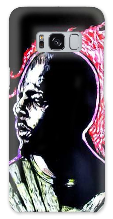 Galaxy S8 Case featuring the mixed media Man On Fire by Chester Elmore