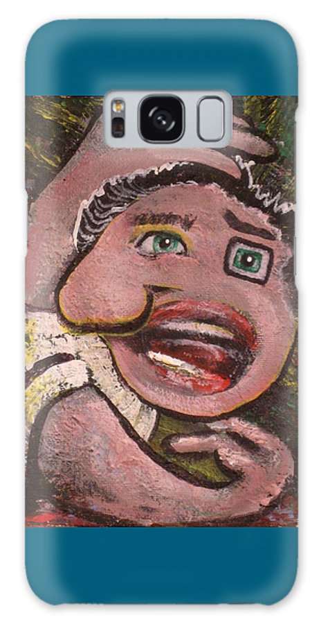 Abstract Galaxy Case featuring the painting Man Waking Up by Dennis Tawes
