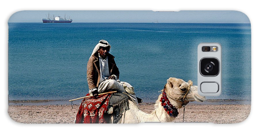 Dromedary Galaxy S8 Case featuring the photograph Man With Camel At Red Sea by Carl Purcell