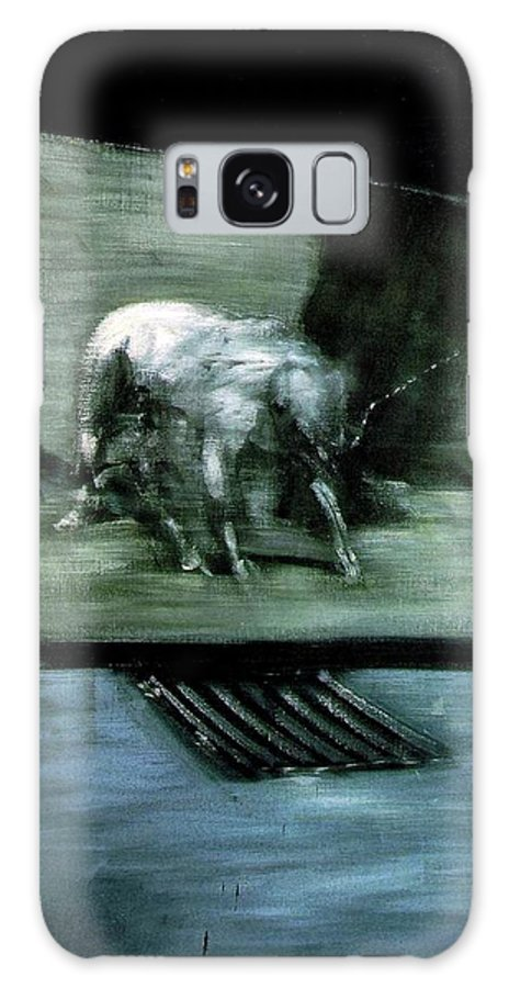 Man With Dog Galaxy S8 Case featuring the painting Man With Dog by Francis Bacon