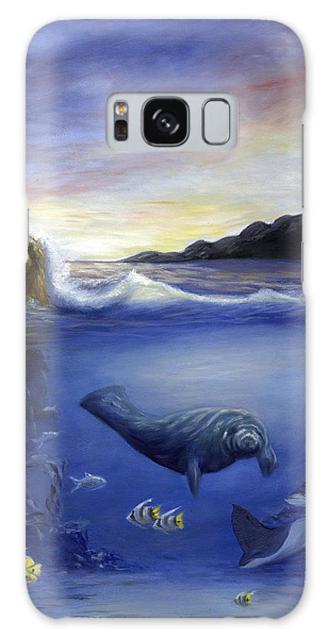 Seaworld Galaxy S8 Case featuring the painting Manatee by Anne Kushnick