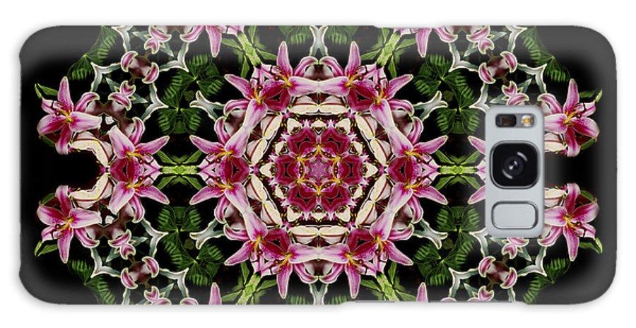 Mandala Galaxy S8 Case featuring the photograph Mandala Monadala Lisa by Nancy Griswold