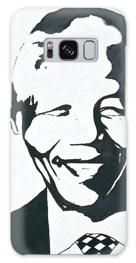 Mandela By Emeka! Galaxy Case featuring the painting Mandela by Emeka Okoro