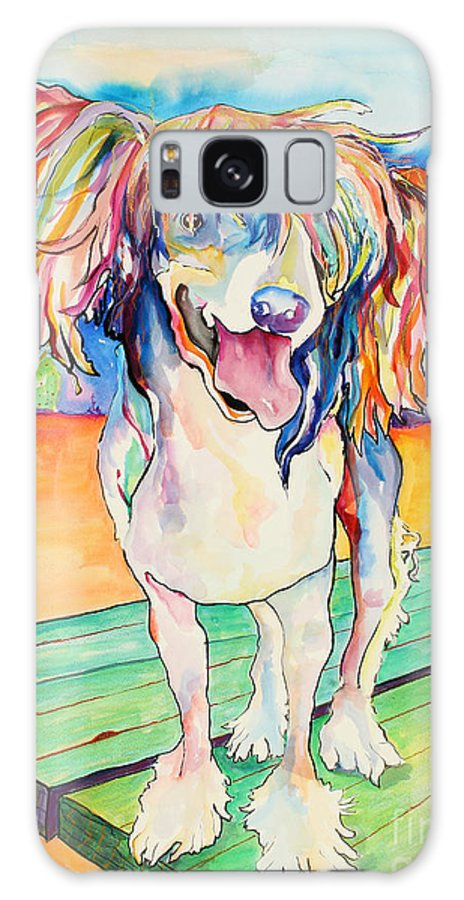 Chinese Crested Galaxy Case featuring the painting Mango Salsa by Pat Saunders-White
