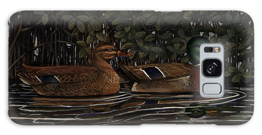 Mangrove Galaxy S8 Case featuring the painting Mangrove Mallards by Timothy Tron