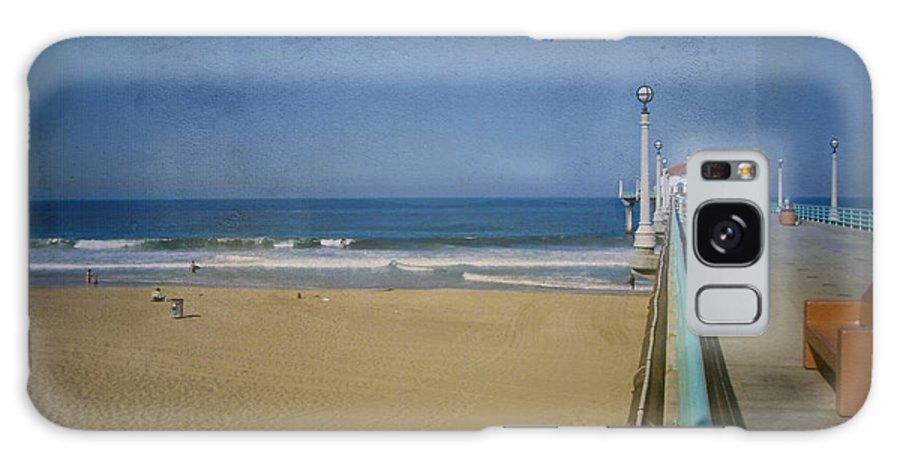 Manhattan Beach Galaxy S8 Case featuring the photograph Manhattan Beach Pier Back Then by David Zanzinger