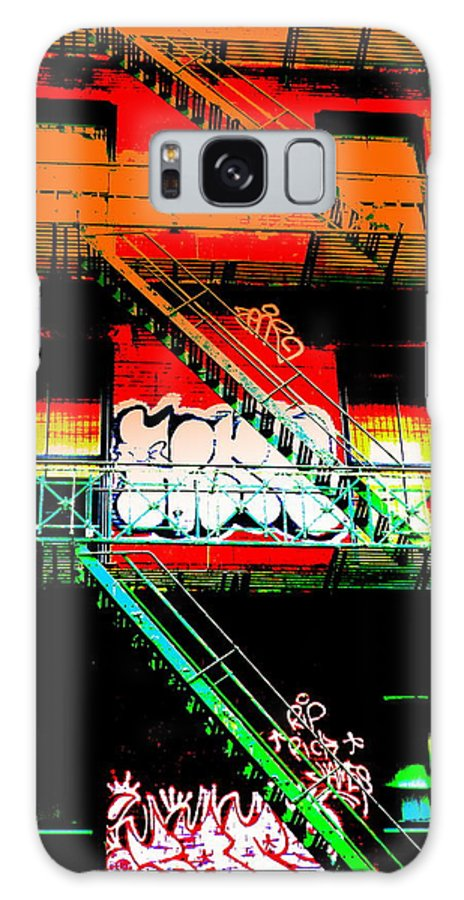 City Galaxy S8 Case featuring the photograph Manhattan Fire Escape by Funkpix Photo Hunter