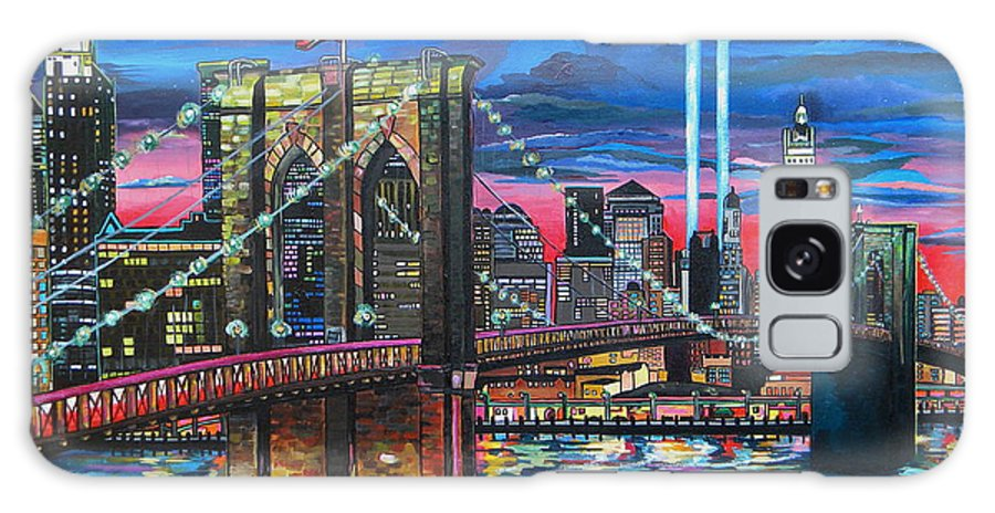 Manhattan Galaxy S8 Case featuring the painting Manhattan Kinda Night by Patti Schermerhorn