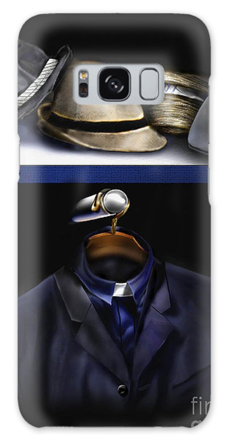 Still Life Painting Galaxy S8 Case featuring the painting Many Hats One Collar by Reggie Duffie