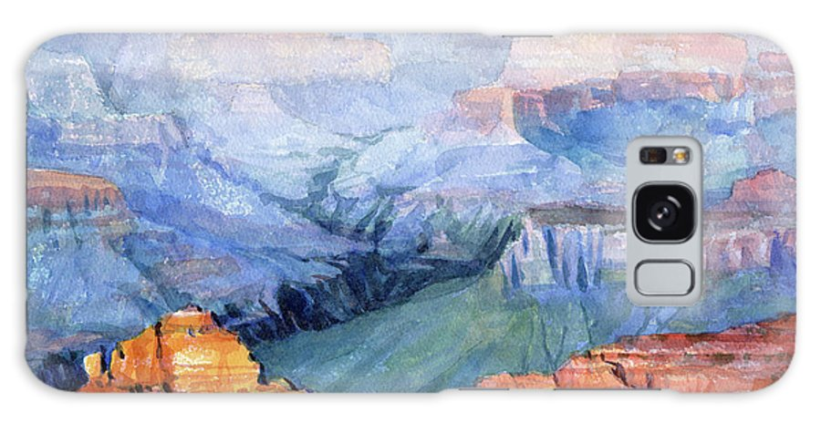 Grand Canyon Galaxy Case featuring the painting Many Hues by Steve Henderson